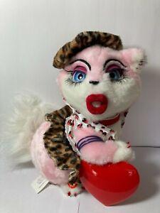 "Sassy Cat ""Be My Baby"" Singing Light-up Valentine Musical Plush HTF AS IS"