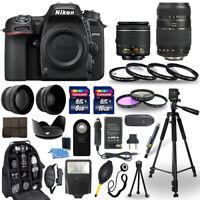 Nikon D7500 Digital Camera + 18-55mm VR + 70-300mm + 30 Piece Accessory Bundle