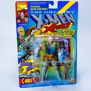 """X-Men Marvel Comics X-Force Cable - Vintage Toybiz ~4.75"""" Action Figure"""
