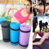 15mm Non-SlipThick Yoga Mat Gym Exercise Fitness Pilates Workout Mat Portable