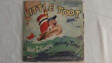 Don Wilson - Walt Disney 78rpm Kiddie record 10-inch Capitol #DAS 80 Little Toot