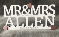 wedding day sign Mr and Mrs personalised special day wood gift