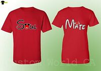 Couple Shirts - Soul Mate Love Matching Tees - Great Couple Him and Hers - Red