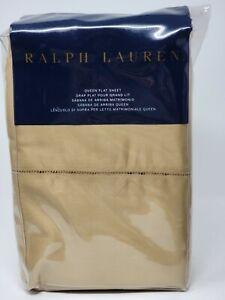 Ralph Lauren 624 Thread Count Cotton Sateen QUEEN Flat Sheet Polished Bronze