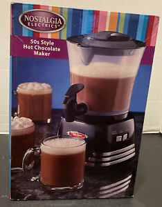 NOSTALGIA ELECTRICS 50s style hot chocolate maker New In Box