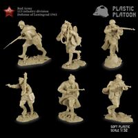 Plastic Platoon Toy Soldiers Red Army 115 Infantry Division Scale:  1:32
