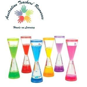 Plastic Goblet Bubbler Liquid Timer Visual Stimulation Kids Stress Relief 18cm