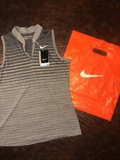 $75 Ladies NikeGolf Gray Striped Golf Tank Top Dri-Fit Size Medium NWT & Bag!