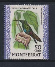 Montserrat - 1970,50c Grün Throated Carib Vogel Briefmarke - MNH - Sg 251