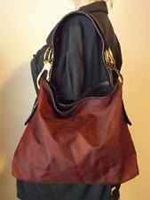 JPK Paris 75 Red Nylon Bucket Bag Chunky Gold Hardware Leather Strap