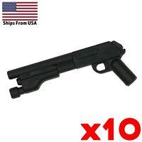 LEGO Guns Short Shotgun Lot of 10 Army Military Police SWAT Black Weapon Pack