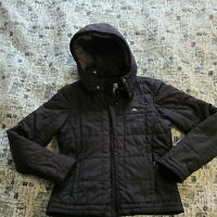 LACOSTE Quilted Jacket Black Womens Size 38