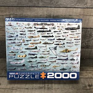 Eurographics 2000 Piece Jigsaw Puzzle - Evolution Of Military Aircraft - Sealed
