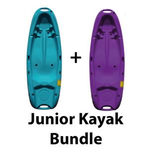Two Junior Sit On Top Kayaks - Bundle Price - Lightweight - For Kids - Riber