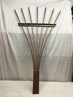 Vintage Red Wood Folding Garden  Fan Trellis 4ft Tall