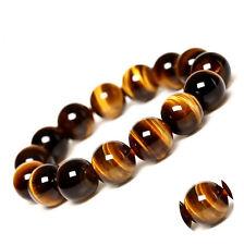20Pcs 8mm Natural Tiger Eye Gemstone Loose Beads For DIY Bracelet Jewelry Making
