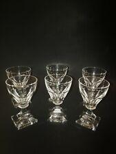 Set Of 6 Crystal Cordial Glasses