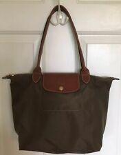 Longchamp Le Pliage Nylon Tote Khaki Folding Shopping Bag Shoulder Handbag small
