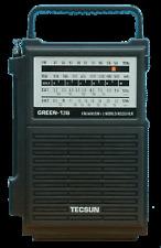 TECSUN AM/FM/SW Hand Crank Rechargeable Radio -Green138