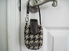 Longaberger Lot of 2 Houndstooth Brown Cell Phone Cases NWT