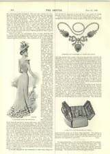 1899 Dinky Picture Dress Hanson Gown For Goodwood Travelling Bag At Drews
