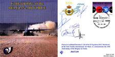 Golden Jubilee Belgian Air Force Hercules cover Signed Hercules crew
