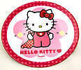 HELLO KITTY PINK DOTS MELAMINE PLATE