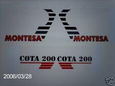 MONTESA Honda cota 200/349 ensayos de gráficos del tanque
