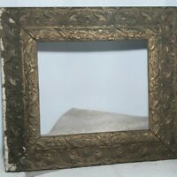 Large Rectangular Antique Wood Frame Ornate  for Painting Art Needs Restoration