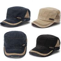 Adjustable Classic Army Plain Baseball Hat Cadet Military Washed Cap Unisex
