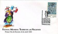 Chile 1993 FDC Festival Mundial Teatro de las Naciones
