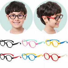 Kids Soft Frame Ultra-Light Goggles Plain Glasses Anti-blue Light Silicone Glass