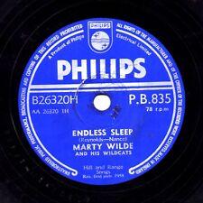 1958 MARTY WILDE 78  ENDLESS SLEEP / HER HAIR WAS YELLOW UK PHILIPS PB 835 E-/V+