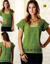 SUMMER Sea Breeze Shell & Limehouse Garden Top/Crochet Pattern INSTRUCTIONS ONLY