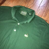 Masters Collection Tournament PGA Sleeve Logo Golf Green Official Polo Mens S