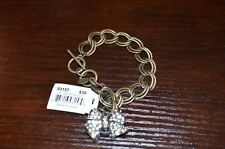 "COOKIE LEE  Glitzy Rebel Bow  Bracelet  7 ½ - 8"" Adjustable Toggle   NWT  NOS"