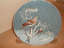 """12 Days of Christmas Vintage Haviland Limoges Noel Plate 2 Turtle Doves 8 3/8"""""""