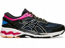 Asics Women's Running Shoes GEL-KAYANO 26 1012A457 BLACK / BLUE COAST