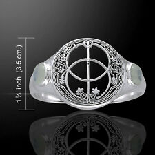 Chalice Well Rainbow Moonstone .925 Sterling Silver Cuff Bracelet by Peter Stone