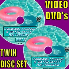 SWIMMING LESSONS/WATER SAFETY 4 BABY CHILDREN, PARENTS TEACHING AID VIDEO 2 DVDS
