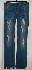 Mudd Jeans - Shimmery & Distressed Denim Low Rise Stretch - Junior Size 3