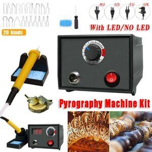 Wood Burner Pyrography Pen Burning Machine Gourd Crafts Tool Set 220V/110V