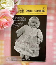 Vintage 1940s Dolls Clothes Knitting Pattern (copy) for an 18 Inch Doll