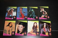 Kylie & Dannii Minogue - 8 collector cards - 1991 ProSet Super Stars MusiCards