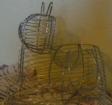 Large Kitty Cat Wire Egg Basket~Use For Fruit Or Anything~Cute~Great Condition!