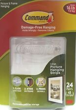 3M Command Damage-Free Hanging 16 lb Strips 24 pairs (48 strips)