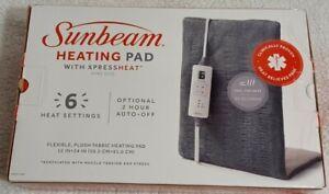 Sunbeam Plush King Size Heating Pad with Xpress Heat w/ 6 Heat Settings [New]