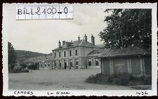 Cahors ( Lot ) la gare . photo ancienne . Juin 1946