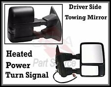 Tow Mirror Left Driver for Ford F250 F350 F450 Power Heated Towing Signal SMOKED