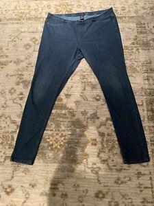 "HUE Denim Pants Leggings XL  36"" X 28"" With Pockets"